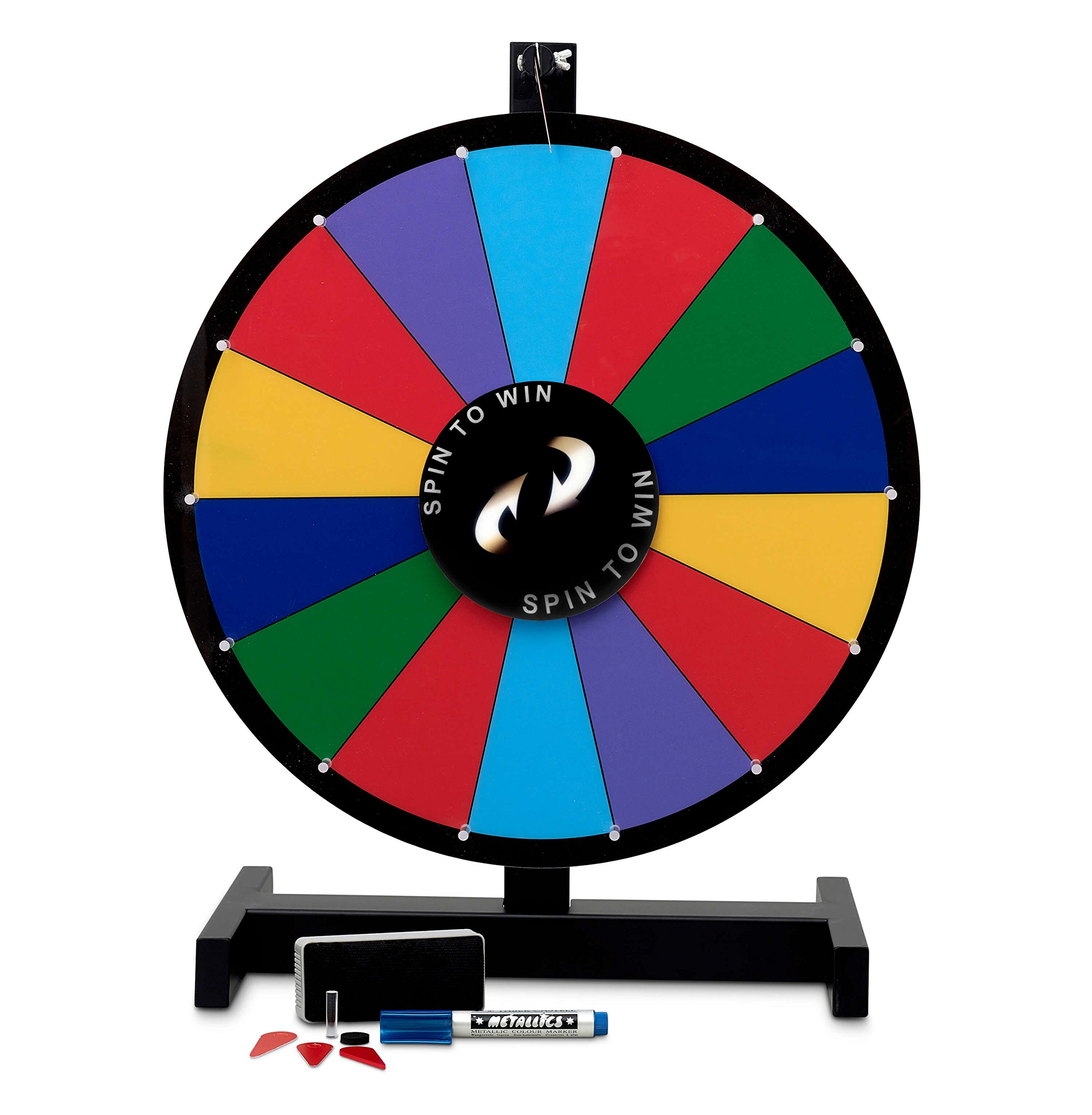 Roo Premium Products 24'' Spinning Prize Wheel Tabletop Trade Show Game Wheel