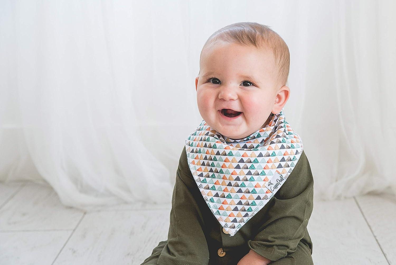 Copper Pearl Baby-Bandana Geifer L/ätzchen F/ür Sabbern und Zahnen 4 Satz-Geschenk-SetBison