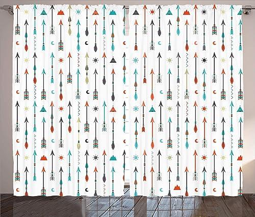 Ambesonne Arrow Curtain