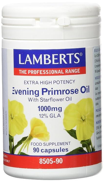 Lamberts Aceite de Prímula con Borraja 1000mg - 90 Cápsulas