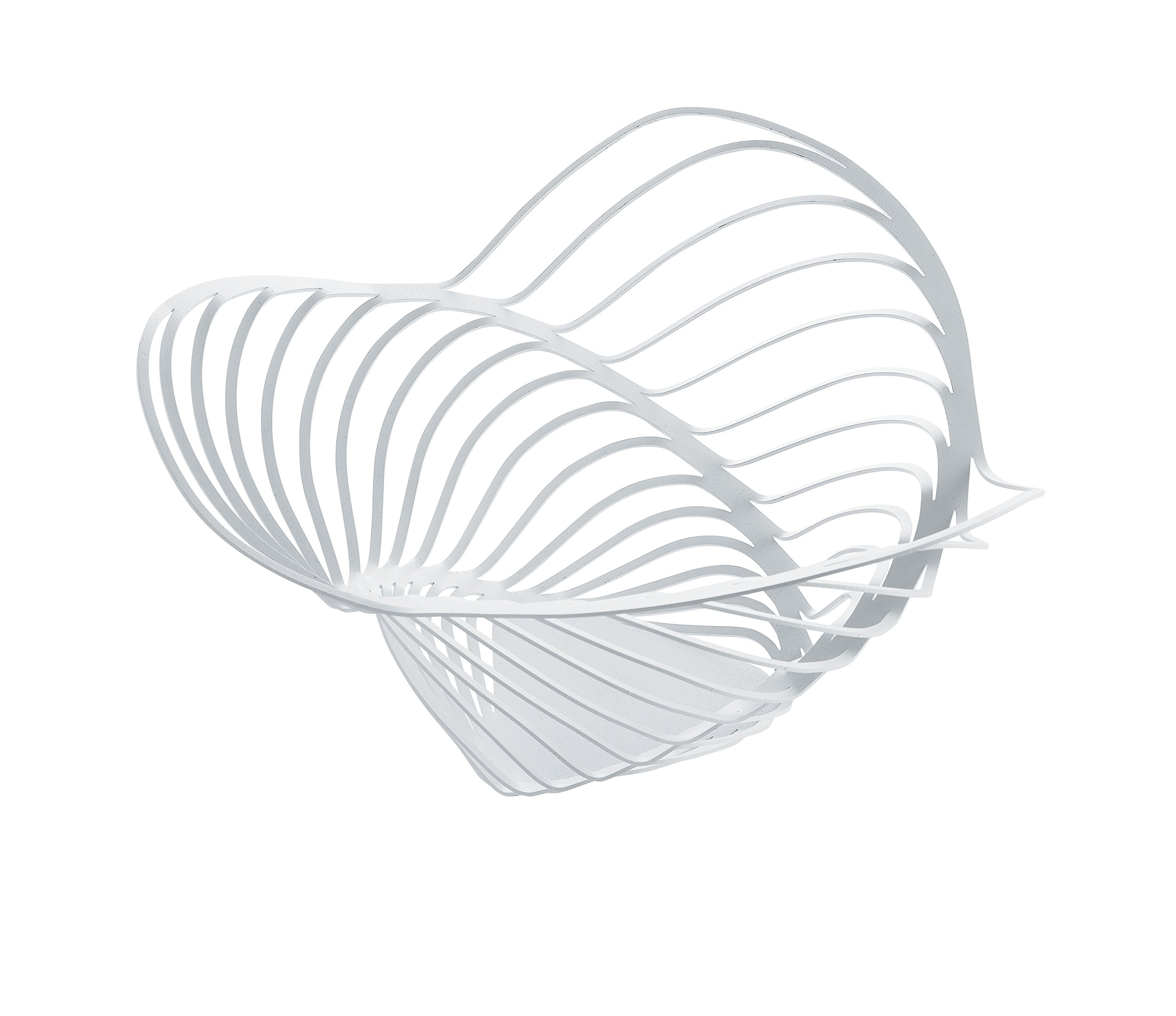 Alessi ACO04/16 W''Trinity'' Citrus Basket in Steel Colored with Epoxy Resin, White