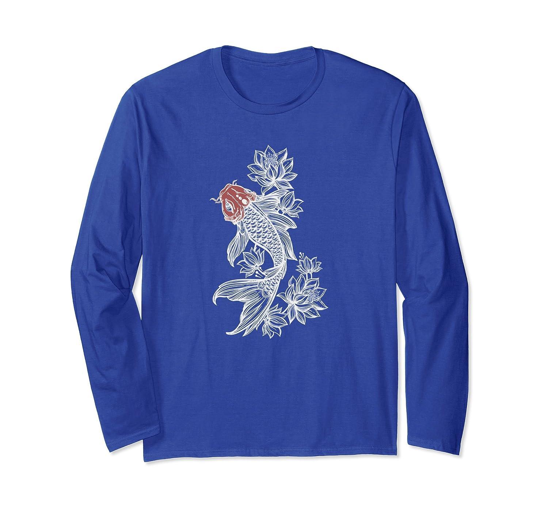 Koi Fish With Lotus Flowers Koi Fish Lovers T Shirt Alottee Gift