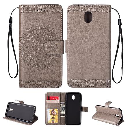 454e7ecdb78 BCIT Samsung Galaxy J5 2017 / J530 / J5 Pro Flip case - Luxury Genuine Real  Leather Flip Case Wallet ...