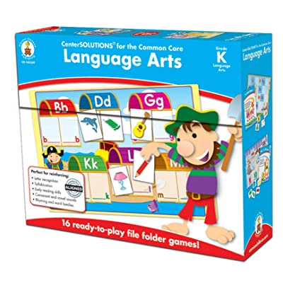 Carson-Dellosa CD-140309 Language Arts File Folder Game, Grade Kindergarten, 16 Games, 29 Sheets of Cards (Pack of 45): Industrial & Scientific