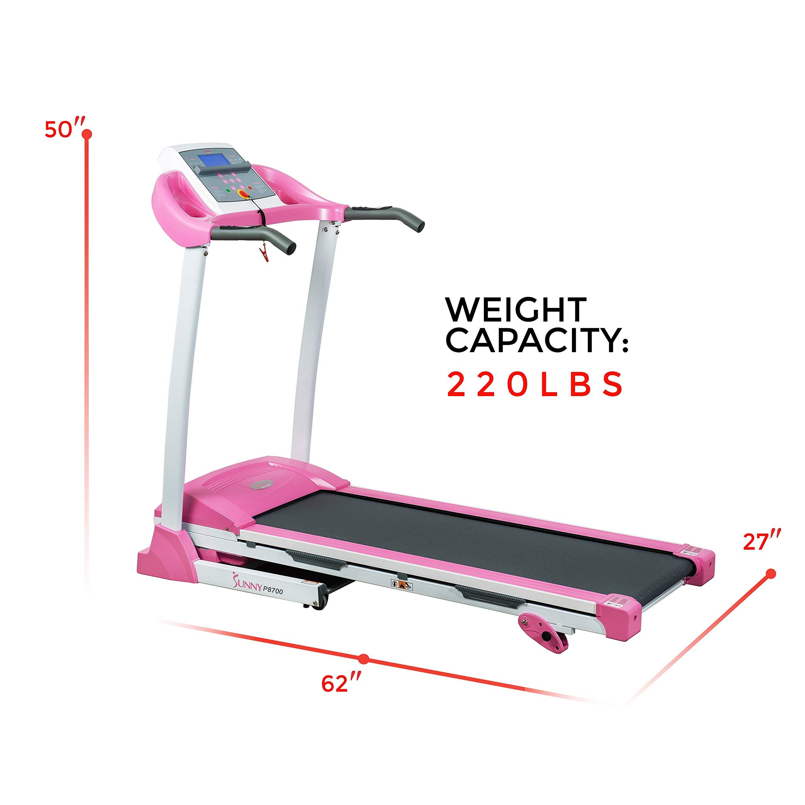 Sunny Health & Fitness P8700 Pink Treadmill by Sunny Health & Fitness (Image #15)