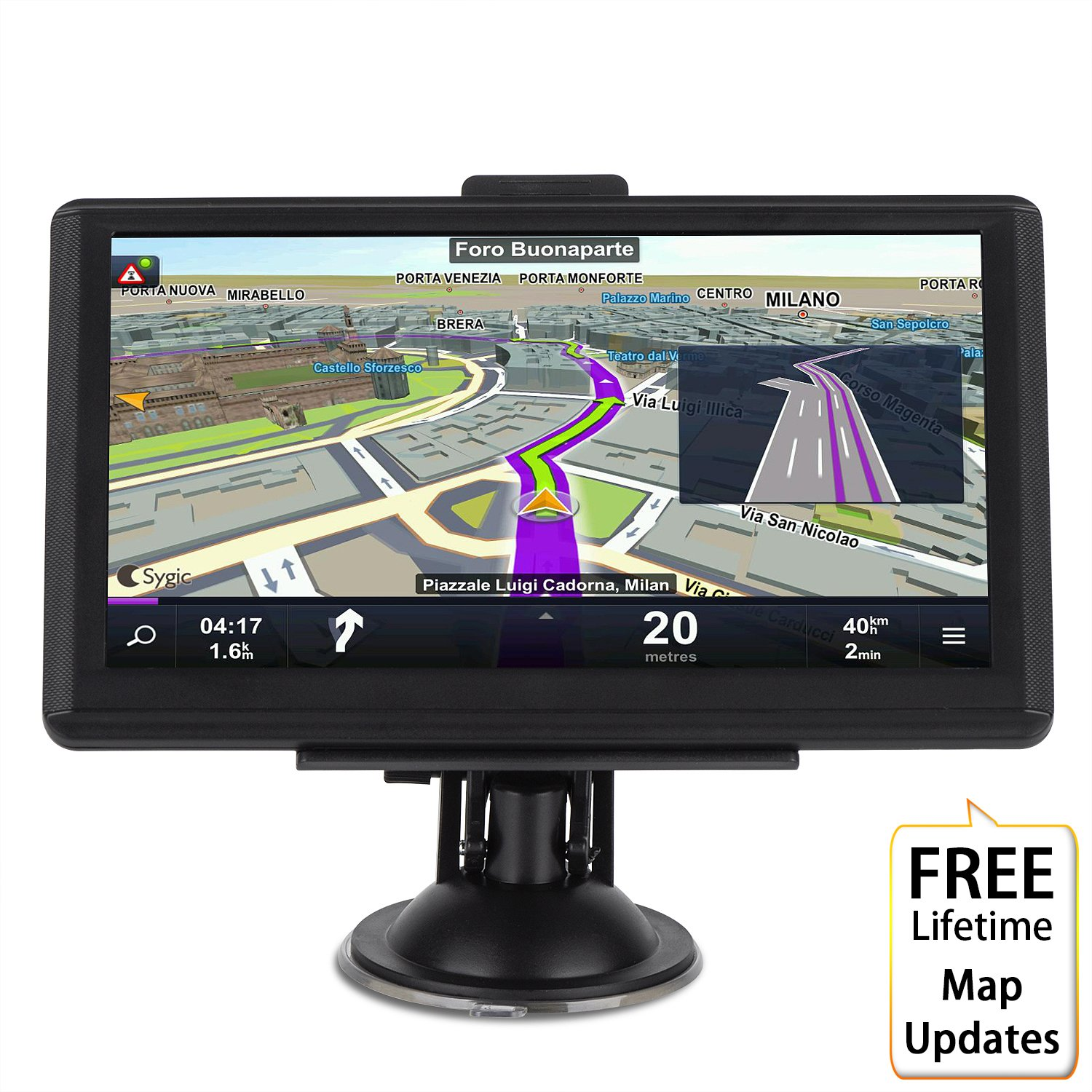 Car GPS Navigation System,GPS Navigation for car, MingAo 7 inch HD voice prompt system,GPS Navigator,Tvird Vehicle GPS Navigation with USB Cable and Car Charger,extend 8GB Memory,LIFETIME FREE Update