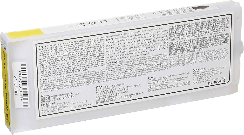 Roland ECO-SOL MAX esl3-ye disolvente cartucho de tinta 220 ml ...