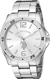 U.S. Polo Assn. Classic Mens USC80223 Silver-Tone Watch with Link Bracelet