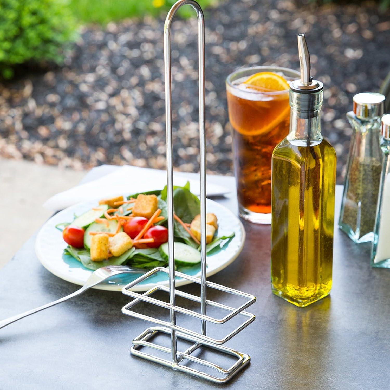 Amazon.com: FineDine Oil Dispenser 16oz. Glass Cruet With Stainless Steel  Tapered Spout [2 Piece]: Kitchen U0026 Dining