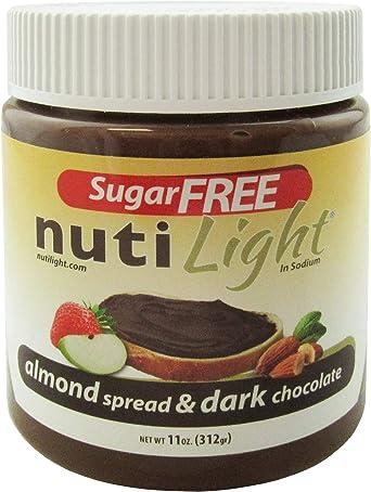 Nutilight Proteína sin azúcar Almendra y chocolate negro 11 oz. (312gr)