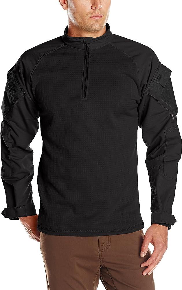 Tru-Spec Hombres Tru de 1/4 Cremallera Invierno Combate Camiseta, Hombre, Negro, XS: Amazon.es: Ropa y accesorios