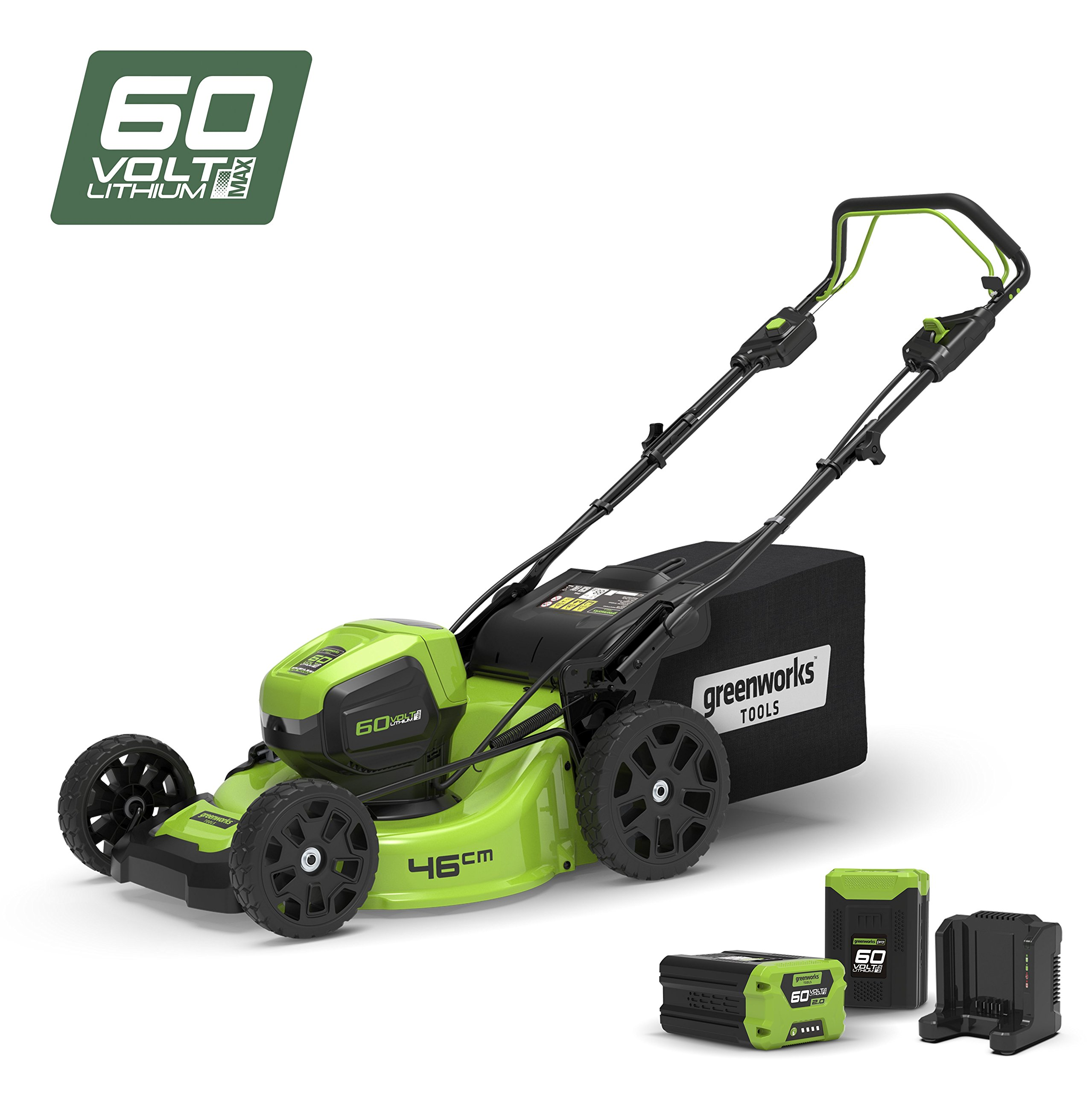 Greenworks gd60lt Strimmer Brushcutter to Battery 60/V Green and Black