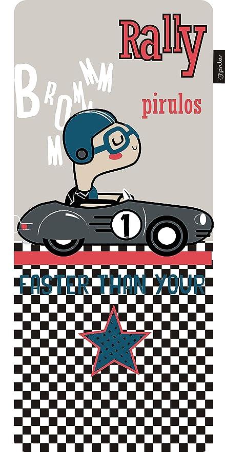 Pirulos 70631630 - Colchoneta recta microfibra rally, color gris ...