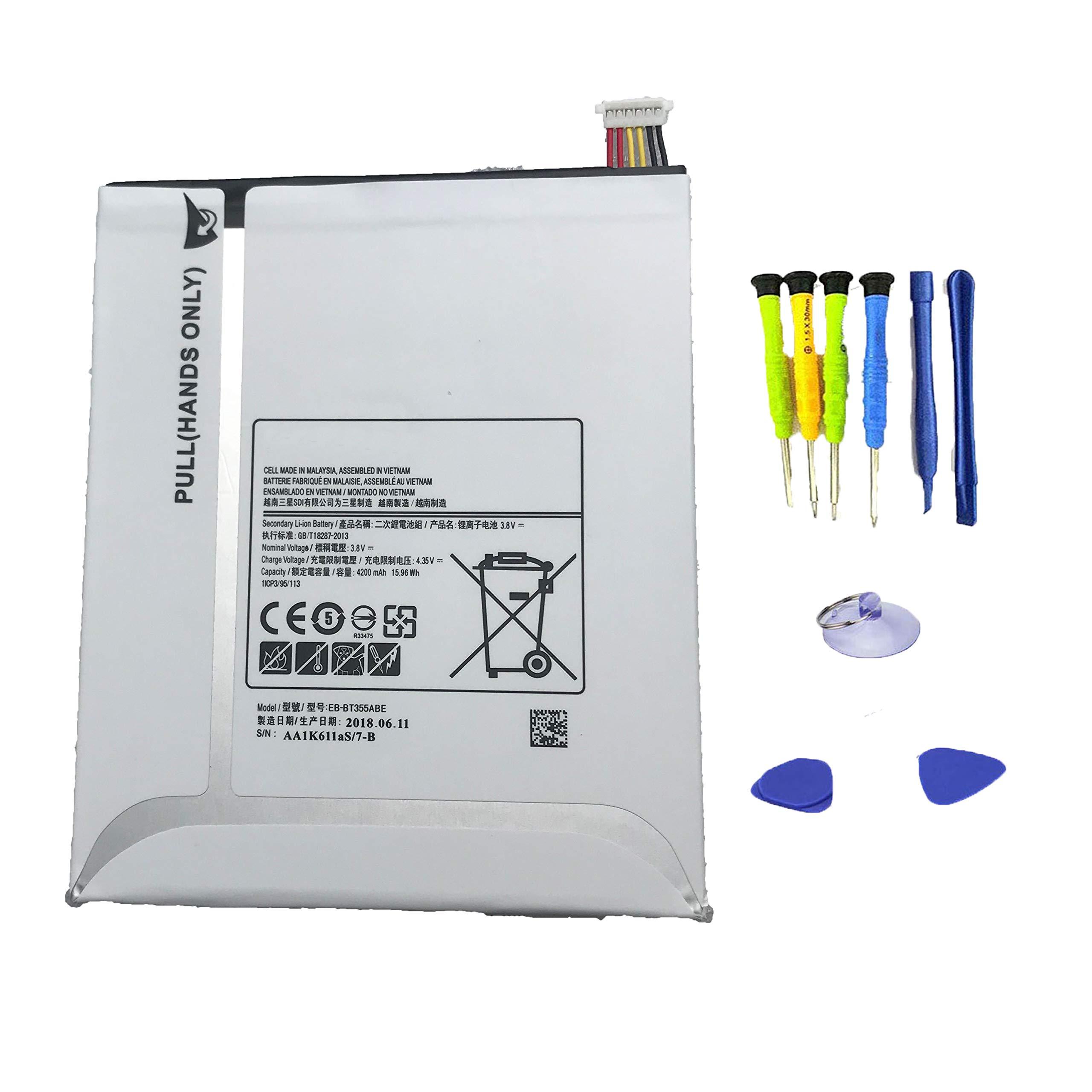 Bateria 3.8v 4200mah Eb-bt355abe Tablet Para Samsung Galaxy Tab A 8 Sm-t350 T355c Tab5 P350 Series Eb-bt355aba Con Tools