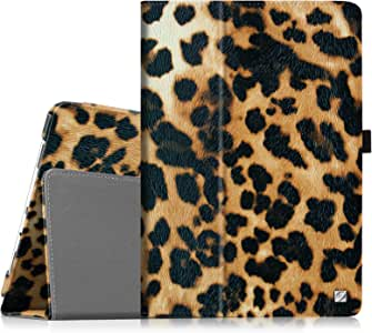 Fintie Folio Classic Leather Case for Samsung Galaxy Tab 3 7.0 inch Tablet - Leopard Brown