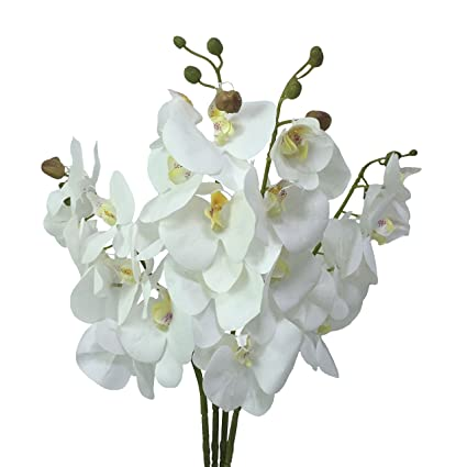 Festive & Party Supplies Cheap Artificial Flowers Artificial Orchid Branch Silk Flower For Home Wedding Garden Decoration Dining Table Decorative Flower Up-To-Date Styling