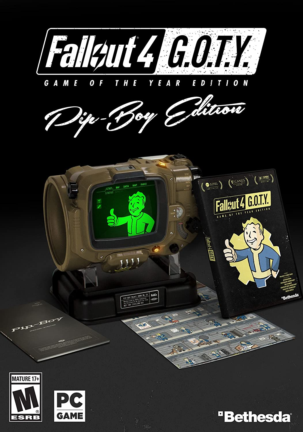 Amazon com: Fallout 4 Game of The Year Pip-Boy Edition - PC