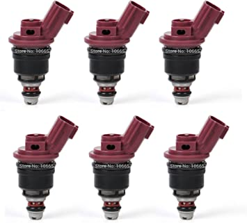 6 PCS OEM Fuel Flow Injector for Nissan 300ZX Jecs 3.0L Infiniti 1660010Y00 !