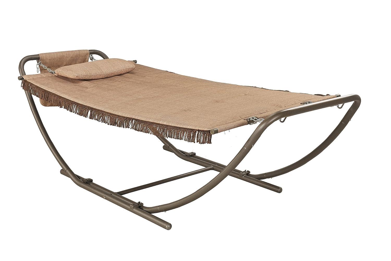 amazon     backyard classics deluxe padded folding hammock with stand   garden  u0026 outdoor amazon     backyard classics deluxe padded folding hammock with      rh   amazon