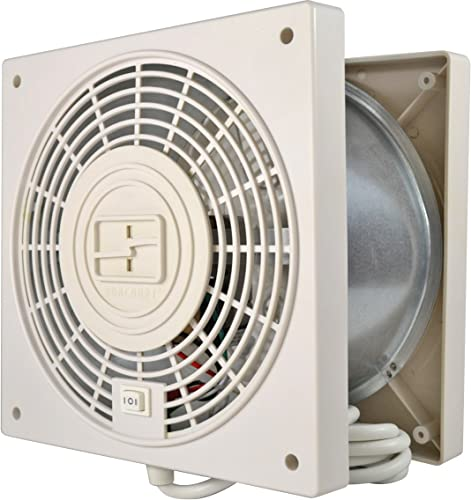 Suncourt ThruWall 2Speed wAirflow Adapter Room Fan