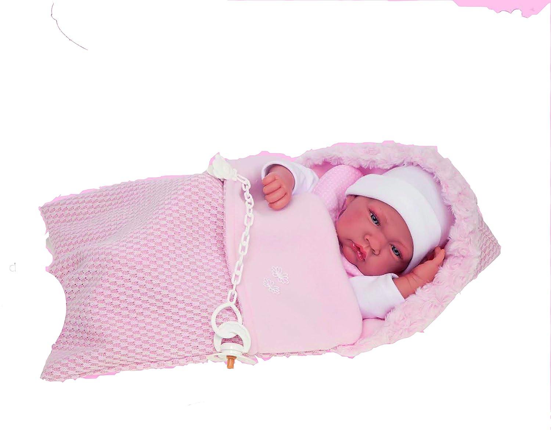 Bambola Antonio juan-5016 RN Bambina con Sacco di Lana Bambola Antonio Juan 5016