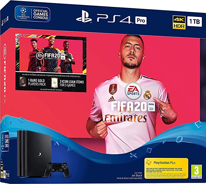 Fifa 20 PS4 Pro 1TB Bundle - PlayStation 4 [Importación inglesa]: Amazon.es: Videojuegos