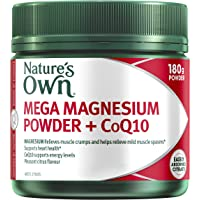 Nature's Own Mega Magnesium Powder plus CoQ10 -Contains easily absorbed magnesium citrate - Supports energy levels, 180g