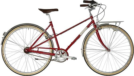ORTLER Bricktown - Bicicleta Urbana Mujer - Rojo clásico Tamaño ...