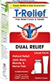T-Relief Pain Value Pack, 2 Ounce Cream & 100 Tablets