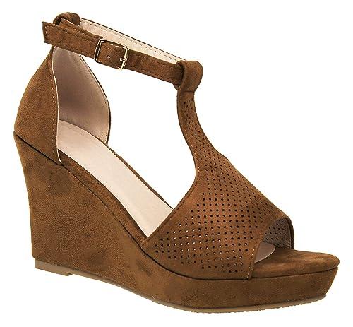 3cf2e5a0459 MVE Shoes Women's Ankle Buckle Espadrille Platform Sandals