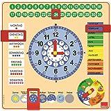 Goula - 51309 - Jeu Educatif - Horloge Calendrier - Allemand