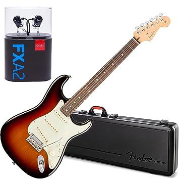 Fender American profesional para guitarra eléctrica Stratocaster Rw 3 W/Carcasa de madera de tono y fxa2 Pro In-Ear Monitor auriculares: Amazon.es: ...