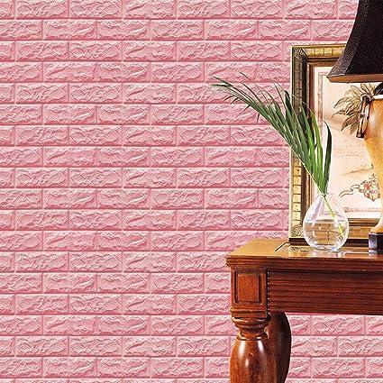 Amazon.com: guyue 3D Brick Wall Stickers, PE Foam Self-adhesive ...