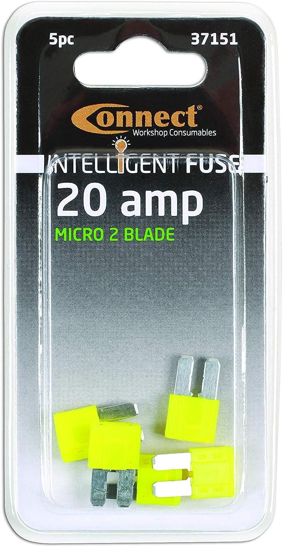 25 Pieces by Workshop Plus Mini Blade Fuses 20 Amp