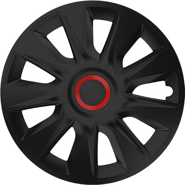 ZentimeX Z778258 Radkappen Radzierblenden universal 17 Zoll Black