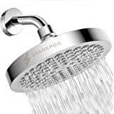 SparkPod Shower Head - High Pressure Rain - Luxury Modern Chrome Look - Easy Tool Free Installation - The Perfect Adjustable