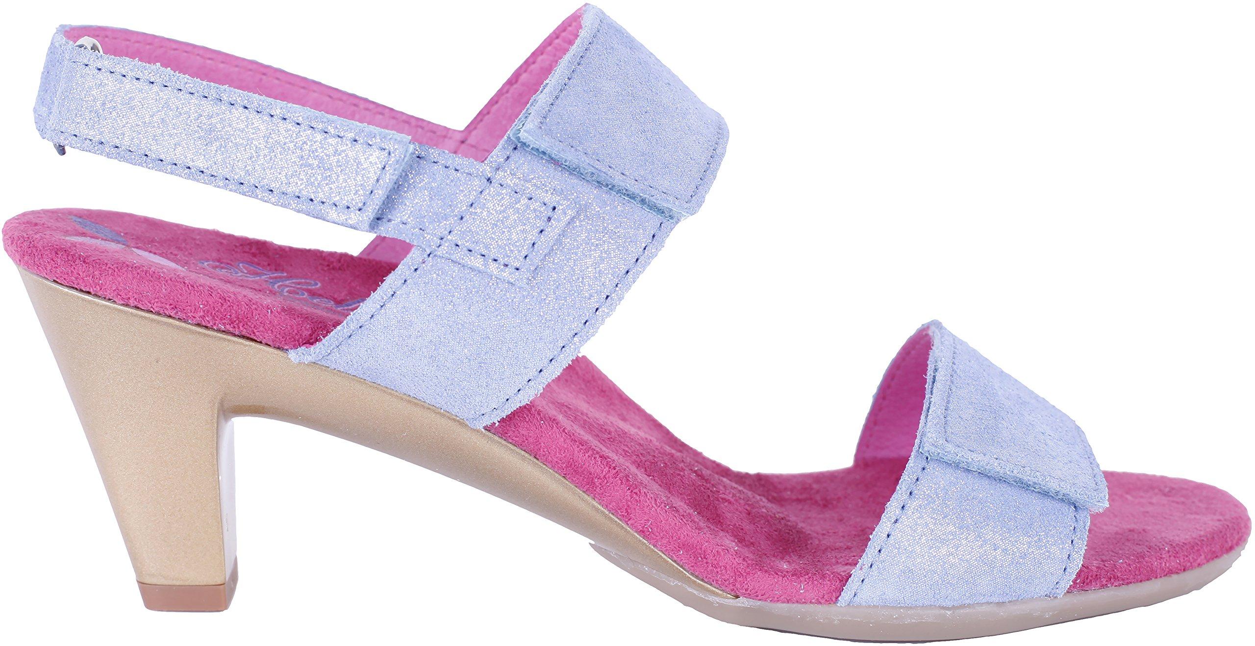Helle Fashion Comfort WOMEN's 2 Velcro Slingback Sandal Edla Denim Size 36