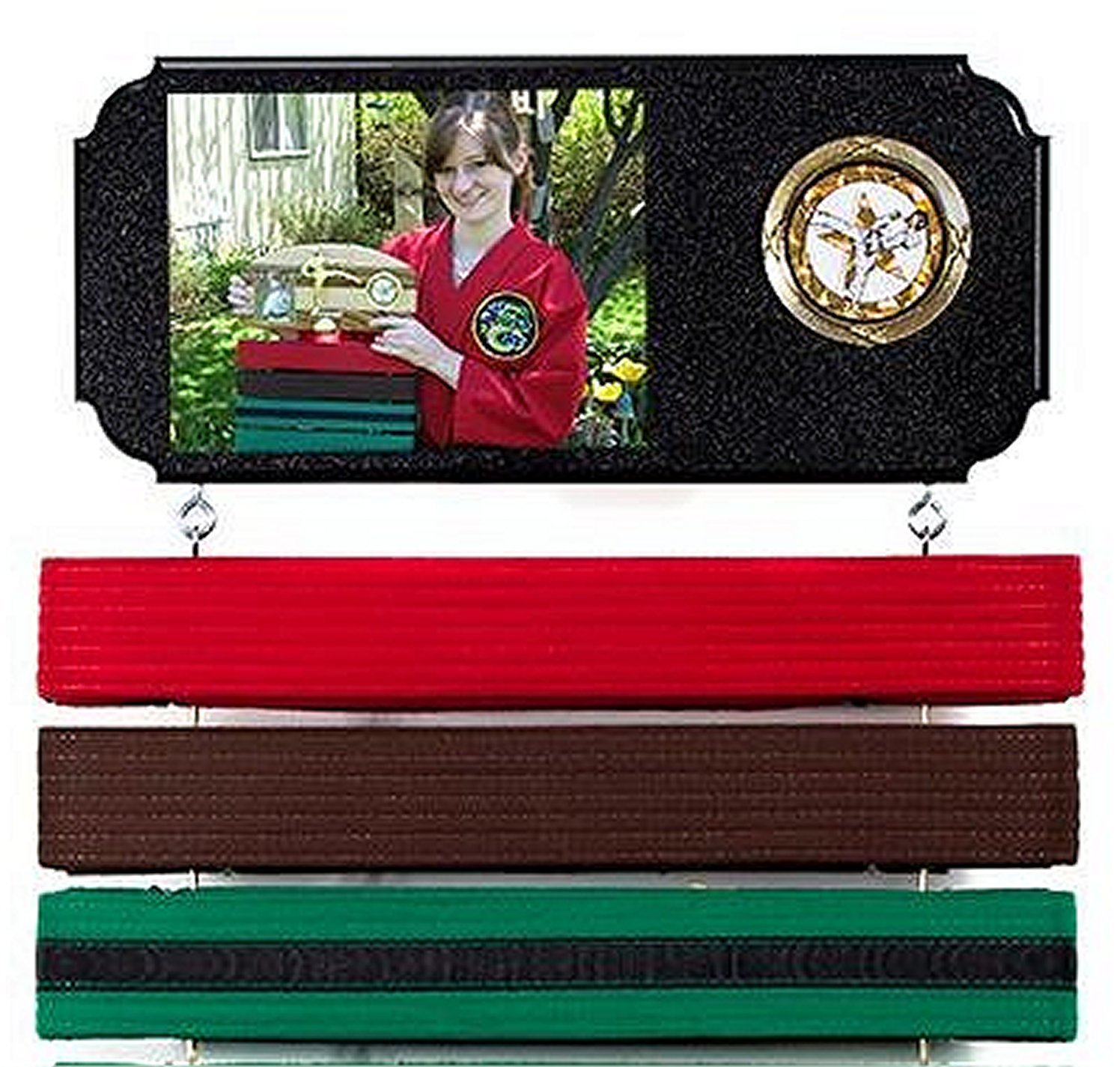 Martial arts belt display. Expandable to hold ALL your belts ! Standard style.