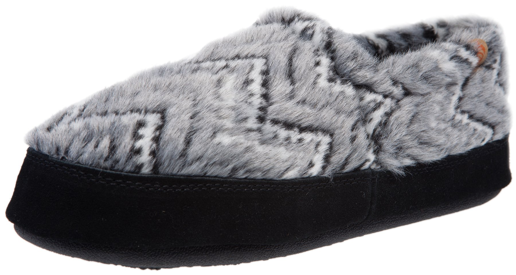 ACORN Women's Acorn Moc Slip-On Loafer (8-9 B(M) US, Grey Zig-Zag)