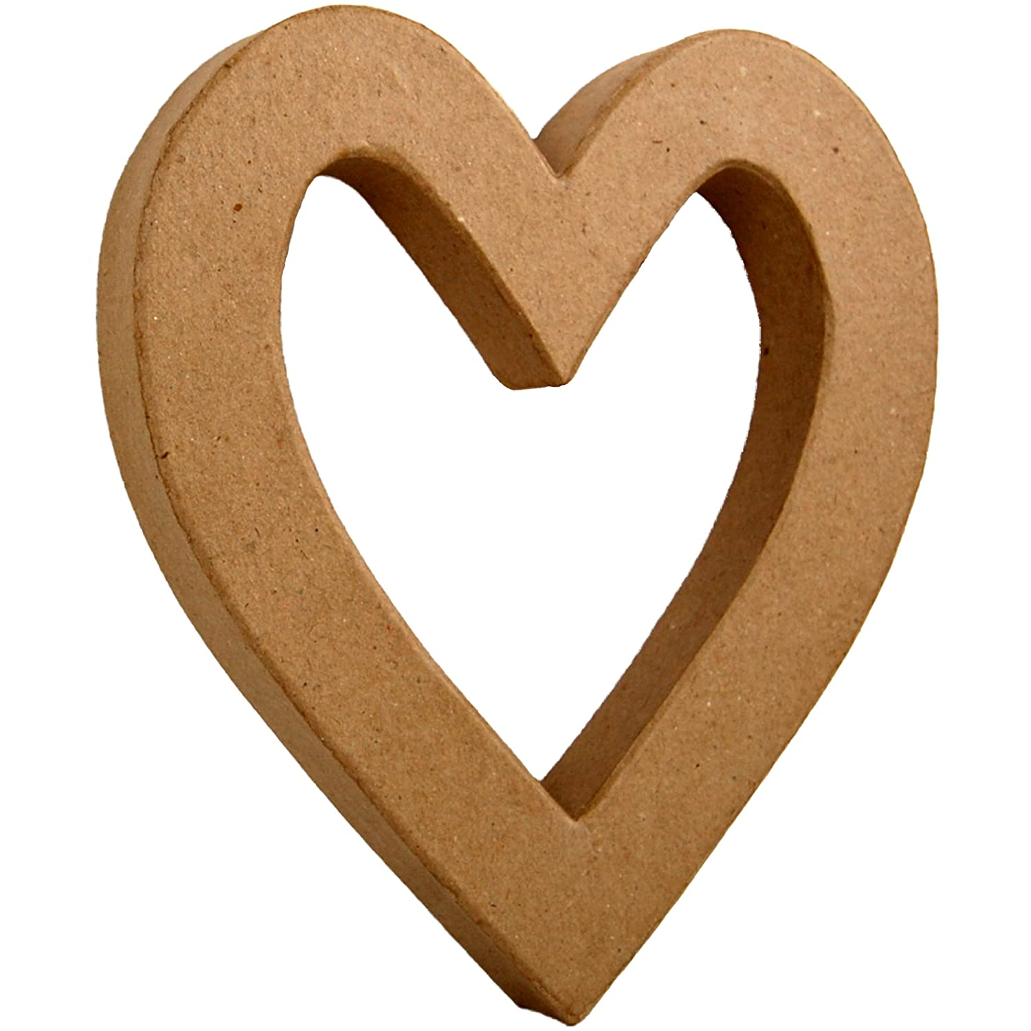 country love crafts 8 25 inch 3d heart outline papier mache