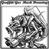 Graffiti Gas Mask Drawings