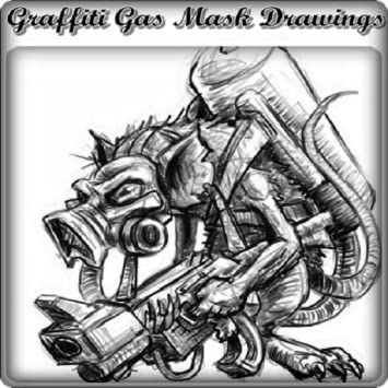 amazon com graffiti gas mask drawings appstore for android