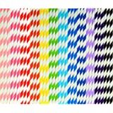 Coobey 300 Pieces Paper Straws Biodegradable Drinking Stripe Straw with Bulk Drinking Straws Decorations for Wedding Supplies and Party Favors, 12 Colors