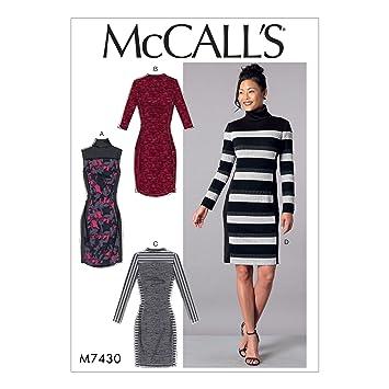 McCall \'s Patterns McCall \'s 7430 A5, Schnittmuster Kleider, Größen ...