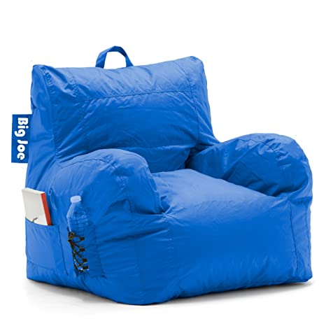 Strange Big Joe Dorm Bean Bag Chair Sapphire Blue Caraccident5 Cool Chair Designs And Ideas Caraccident5Info