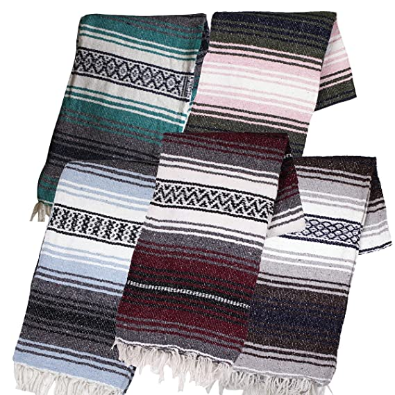 Canyon Creek Authentic Mexican Yoga Falsa Blanket (Assorted) by Canyon Creek