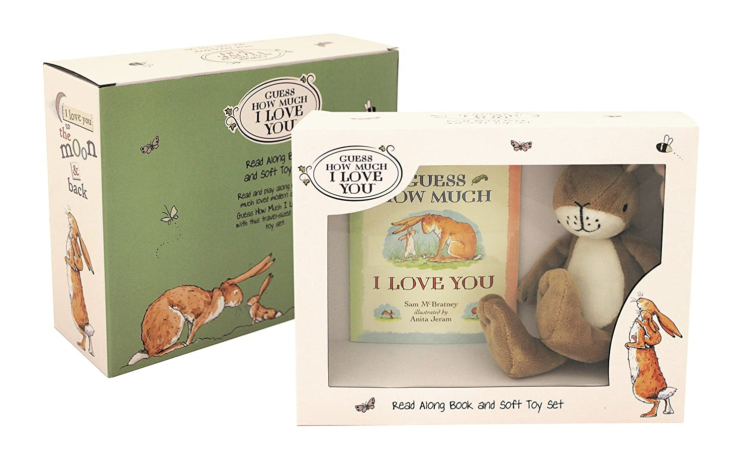 Rainbow Designs gh1351/ Guess How Much I Love You Book//Pl/üsch Geschenk-Set