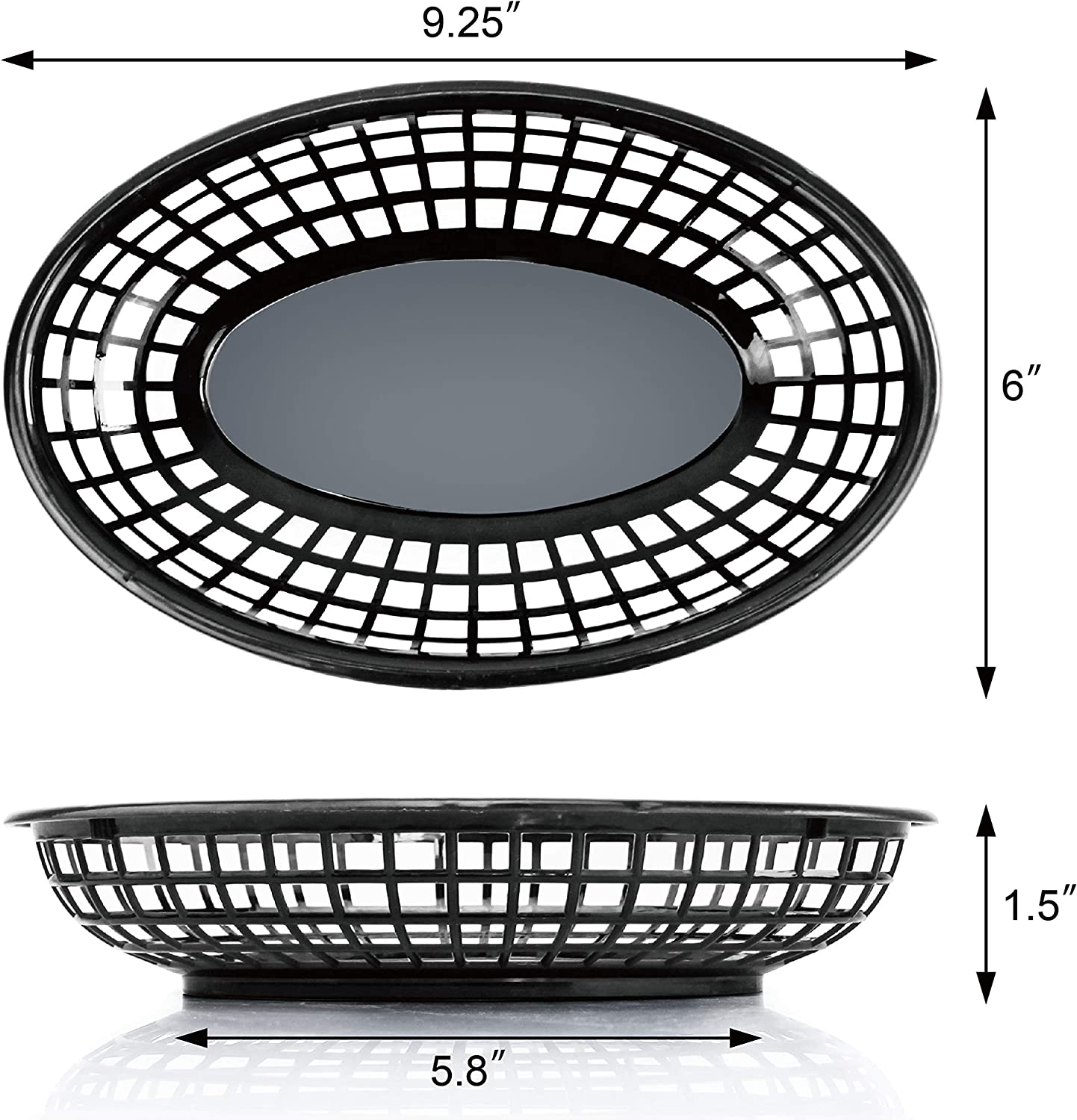 9.25 x 6 inch Oval New Star Foodservice 44157 Fast Food Baskets Set of 36,...
