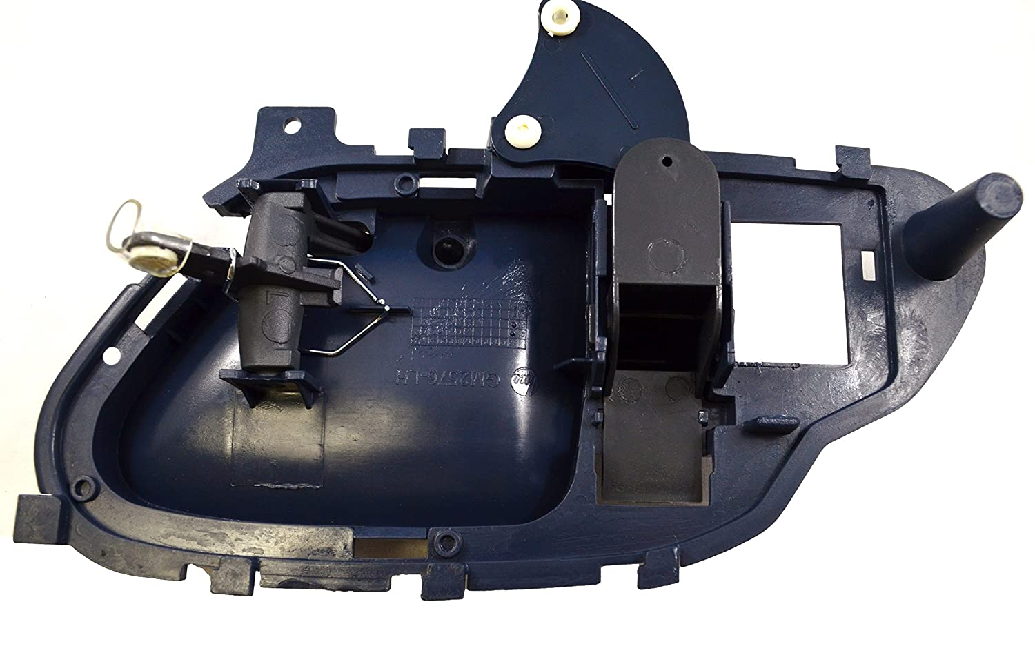 Driver Side Inside Interior Inner Door Handle PT Auto Warehouse GM-2576J-LH Blue Housing with Gray Lever