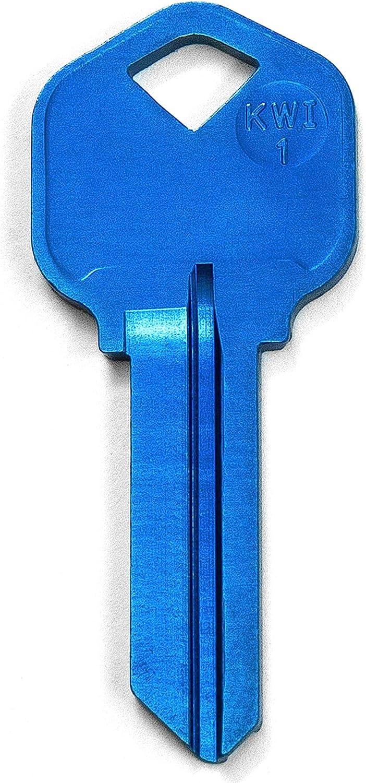 KeySmart AirKey - Ultra Lightweight Aluminum Keys (3 Pack, KW1, Blue)